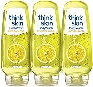Think Skin Body Wash - Lemon Fresh, Shower Gel, 250 ml (Pack of 3)