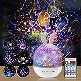 Sterrenhemel projector, nachtlampje, roterende led-sterrenlamp en muziekdoos, voor kinderen en volwassenen, afstandsbediening