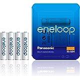 Panasonic eneloop, Ready-to-Use Ni-MH Akku, AAA Micro, 4er Pack inkl. Akkubox, min. 750 mAh, 2100 Ladezyklen, starke Leistung und geringe Selbstentladung, wiederaufladbare Akku Batterie, Akkubatterie