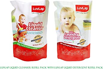 Luvlap Combo with Luvlap Liquid Cleanser 1000ML Refill Pack with Luvlap Liquid Detergent Refill Pack 1000ML