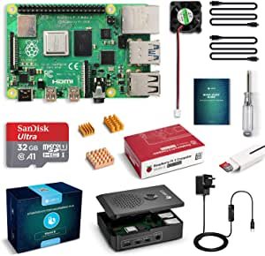 Labists Raspberry Pi 4b Starter Kit Motherboard 32gb Sd Computers Accessories