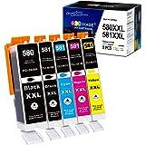 GPC Image PGI-580XXL CLI-581XXL Cartucce d'inchiostro Compatibili per Canon 580/581 XXL per Canon PIXMA TS6150 TR7550 TR8550
