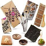 Reishunger Sushi Maker Kit Completo (4 Personas) - Instrucciones Sencillas para hacer Sushi y Maki - Ingredientes originales