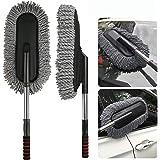 LAHERI Microfiber Car Cleaner Flexible Duster Cleaner Car Wash | Car Cleaning Accessories | Microfiber | Brushes | Dry/Wet Ho