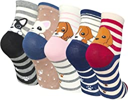5 Pairs Womens Animal Socks Cute Funny Cotton Ladies Socks for Winter