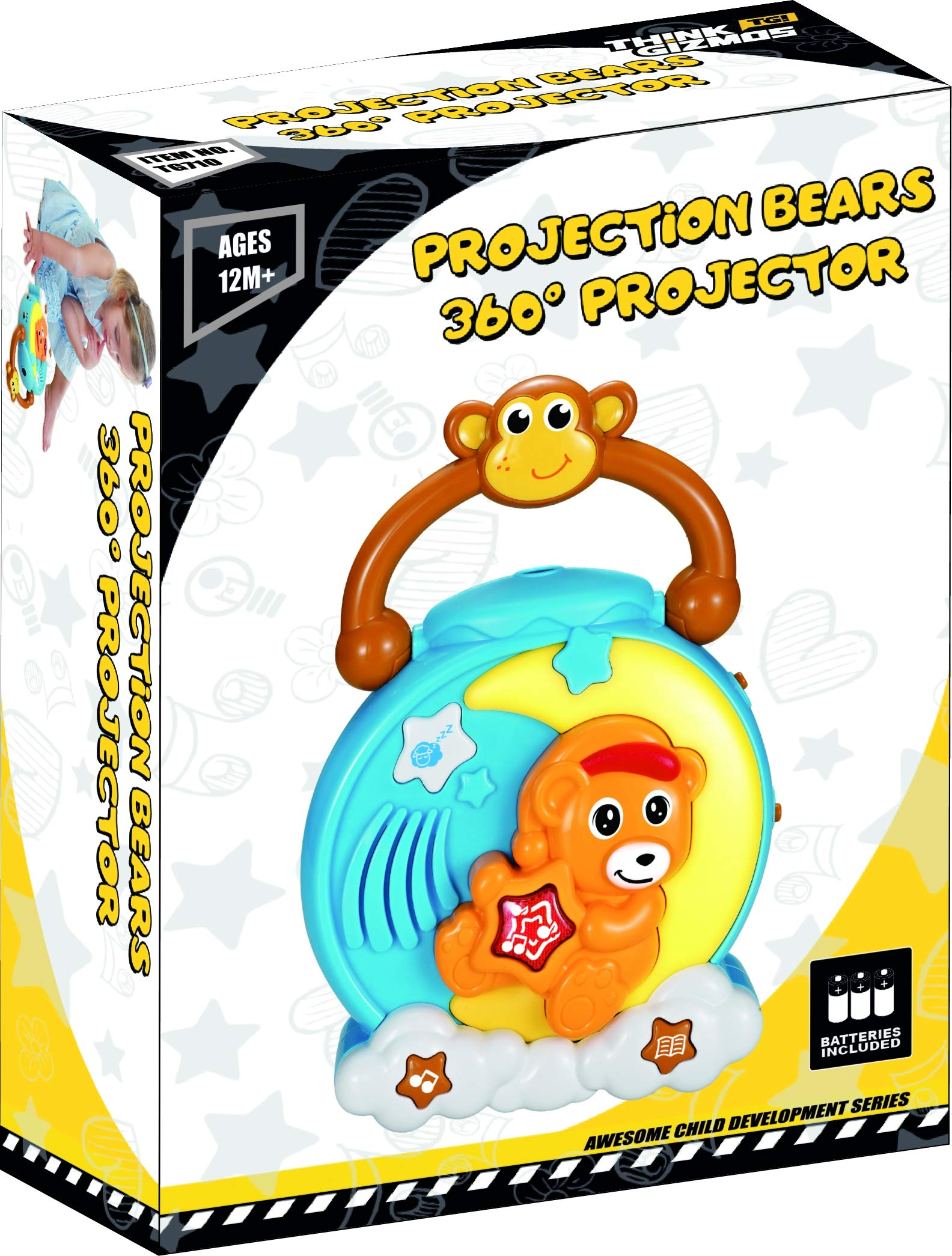 TG710 - Projection Bears 360° Projector - UK Quality Fun Gadgets & Gizmos