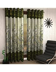Home Sizzler  Eyelet Polyester Door Curtain Set