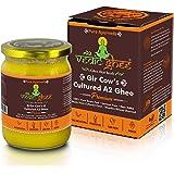 Vedic Ghee A2 Gir Cow Cultured Ghee from Kesariya Farm, Vedic Bilona Method, Pure, Natural & Healthy, Non-GMO   Lab Tested -