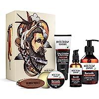 Ultimate Beard Box · Brooklyn Soap Company · Hochwertiges Bartpflege Set inkl. Bartöl, Bartshampoo, Bartbürste…