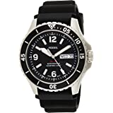 Fossil FB-02 Men's Black Dial Silicone Analog Watch - FS5689