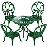 Sylvanian Families Ornate Garden table & chairs green