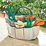 Spetebo Gartentasche mit 8 Fächern - ca. 33 x 16 x 25 cm - Gartengerätetasche für die Gartenarbeit Tasche Gärtner Garten