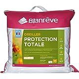 Blanrêve - Oreiller Protection Totale - anti acariens et antibactérienne - 50x70 cm