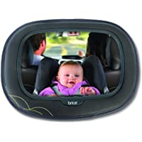Brica by Munchkin Baby In-Sight Car Mirror, Extra Large, Superior Reflection and Wide Angle View of Baby, Black