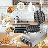 Vogvigo Gaufrier, 1400W Revêtement Antiadhésif en Teflon Semi-Professionnel Machine a Gauffres, 30pcs Bubble Waffle Maker Éle