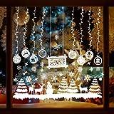 MMTX Adornos de Navidad Vinilos para Ventanas, Pegatinas Navidad Escaparate, DIY Adhesivos Navideños Copo de Nieve Arbol Navi