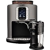 Krups EA860E Kaffeevollautomat One-Touch-Cappuccino Latte Smart, App gesteuert, Milchbehälter, 1,8 L, 15 bar, metall…