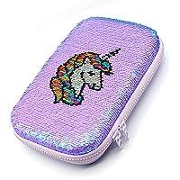 Hello Kids Designer Unicorn Sequin Sequence Scale & Color Changing Pencil Box Cute Unicorn Pencil Case Large Capacity…