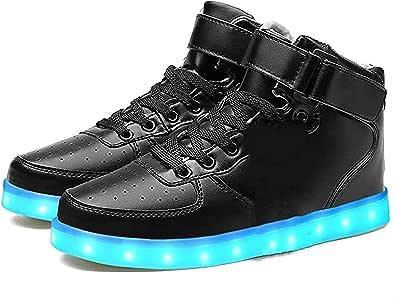 LEKUNI Scarpe LED 7 Colore USB Carica LED Lampeggiante Luminosi Sneaker Scarpe