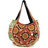 ARTS & CRAFTS Vanya Handicraft Collection Multicolored Boho Bag/Banjara Shoulder Bag/Tote Shoulder Handbag For Women