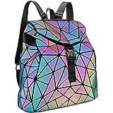 Tikea Geometrische Rucksack, Leuchtende Schulranzen Holographische Tasche Causal Daypack Rucksackhandtasche Schultasche Stude