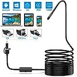 Lightswim Endoscope 3 en 1 USB/Micro USB/Type-C 1200P Cámara de inspección 2.0 megapíxeles HD Boroscopio Impermeable Cable se
