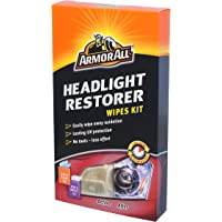 Armor All GAA18514ML6A Headlight Restorer Kit Containing 2 Cleaning 1 Protectant Wipe, 3