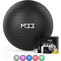 Mode33 Exercise Ball - 55 to 85cm Extra Thick Anti-Burst Yoga Ball with Hand Pump - Gym Ball for Fitness, Pilates…