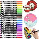RATEL Vernice di Porcellana, 20 Colori Nessun sanguinamento Pennarello per Porcellana Impermeabile Permanente Pittura Arte Pe