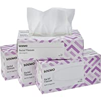 Amazon Brand - Solimo 2 Ply Facial Tissues Carton Box - 100 Pulls (Pack of 4)