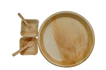 somani palm leaf disposable plate disposable bowl disposable spoon 100 natural round plates