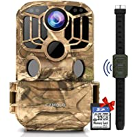 CAMOLO Caméra WiFi 24 MP 1296P avec carte SD 32 Go, caméra de suivi avec objectif grand angle 140°, vision nocturne…