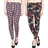 Aiyra Women's Skinny Fit Leggings (Pack of 2) (HBP03-HBP04_Multicolored_Small)