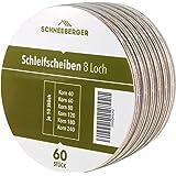 Schleifscheiben Premium Klett-Schleifpapier Ø 125 mm 60 Stück Körnung je 10 x 40/60/80/120/180/240 Exzenter-Schleifer 8 Loch
