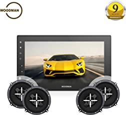 Woodman Doubledin WM-2019 with FM/Bluetooth/USB 1080px Full HD Car Stereo Double Din with 4 Speakers of 6-inch