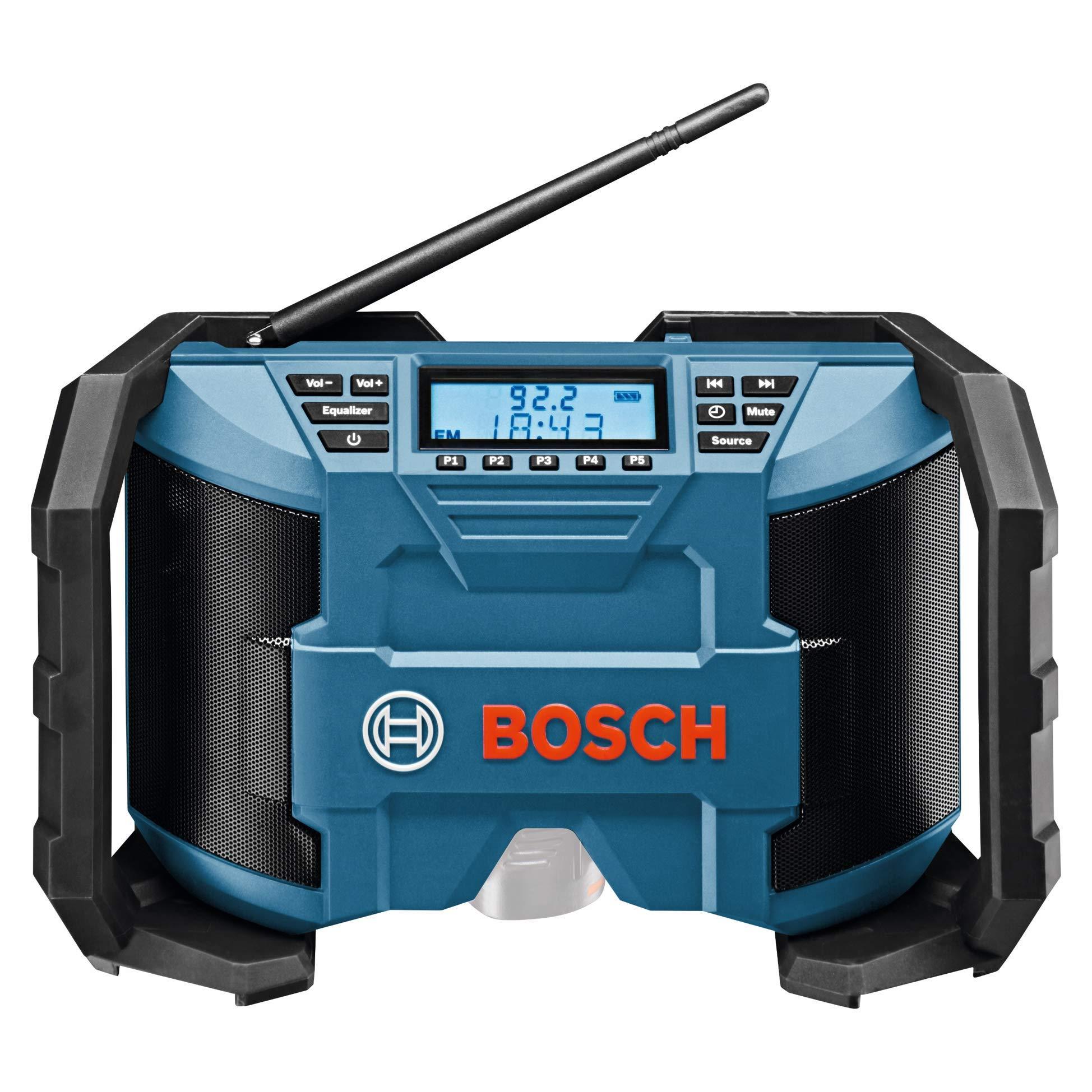 Bosch Professional GPB 12V-10 Akku Baustellenradio (3,5mm AUX Kabel, FM/AM, MP3)