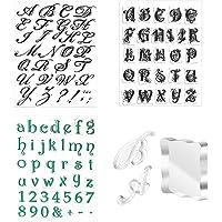 SAVITA 4pcs Tampons de l'Alphabet Lettres pour Gâteau Réutilisables Tampons Outils Transparents pour Tampons à Gâteau…