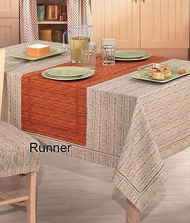 melange runner copritavolo jacquard 45x130 cm. [ruggine]: amazon ... - Runner Cucina