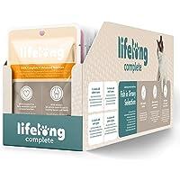 Marchio Amazon - Lifelong Alimento completo per gatti adulti- Selezione di pesce in salsa, 2,4 kg (24 sacchetti x 100g)