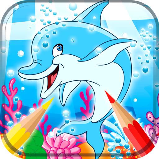 Dolphin Malbuch