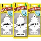Little Trees Air Freshener Tree LTZ061 Arctic White Fragrance For Car Home Boat Caravan - Triple Pack