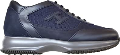 Hogan Scarpe Sneakers Uomo New Interactive H 3D HXM00N0I980LIE3735 Blu Denim
