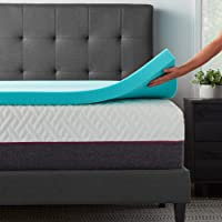 Naplogy ® Cool Gel Memory Foam Single Bed Polyurethane Mattress Enhancer/Topper for Existing Mattresses ( Blue, 36 x 72…