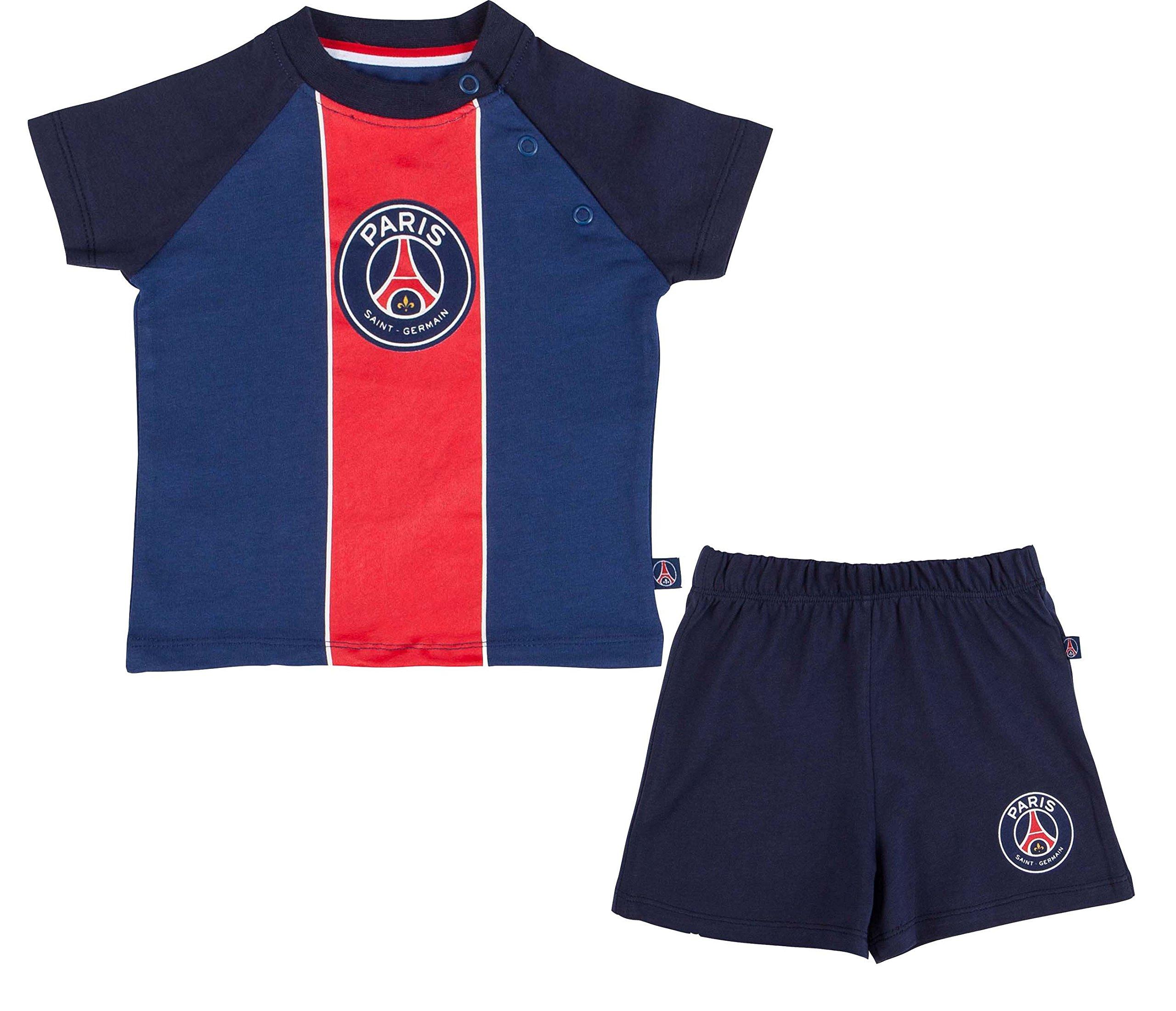 Maglietta + Pantaloncini PSG���Collezione ufficiale Paris Saint Germain���Dimensione Bambino Ragazzo