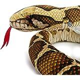 Kuscheltiere.biz Tigerpython ZÜNGLI slang pluche slang Python 150 cm pluche dier