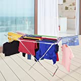 LiMETRO STEEL Stainless Steel Foldable Clothes Stand for Drying Clothes | Cloth Drying Stand | Cloth Drying Stands…