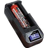 kraftmax BC-1000 USB Akku Ladegerät für 18650/26650 / 14500/16340 / CR123 / 3,7V Lithium Akkus Li-Ion Smart Charging