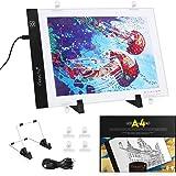 Magicfly Tablet Helder Diamant Schilderen A4 LED-lichtpad voor Tekenen 5D, Dimbare Light Board Kit met USB-kabel, voor Tekeni