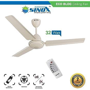 bd4fe43db53 Buy Sinox ECO 230V AC BLDC Ceiling Fan 1200mm with Remote(Ivory ...