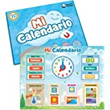 Mi Primer Calendario de SmartPanda - Juguete Educativo Magnético para Niños o Niñas - Incluye Reloj, Estación Meteorológica,